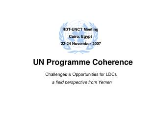 Challenges & Opportunities for LDCs  a field perspective from Yemen