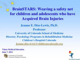 BrainSTARS: Weaving a safety net for children and adolescents who have Acquired Brain Injuries