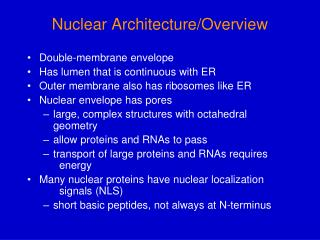 Nuclear Architecture/Overview