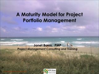 A Maturity Model for Project Portfolio Management