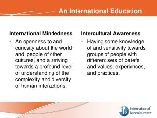 An International Education
