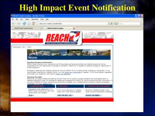 High Impact Event Notification