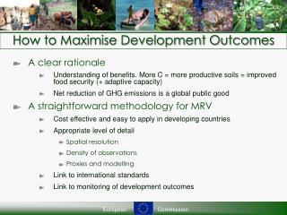 How to Maximise Development Outcomes