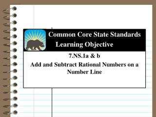 7.NS.1a & b Add and Subtract Rational Numbers on a Number Line
