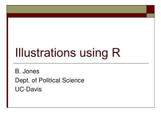 Illustrations using R