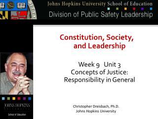 Christopher Dreisbach, Ph.D. Johns Hopkins University