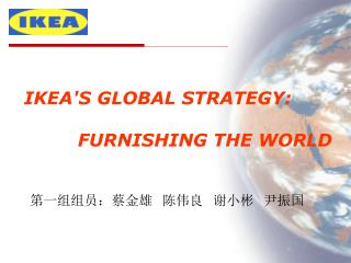 IKEAS GLOBAL STRATEGY:            FURNISHING THE WORLD