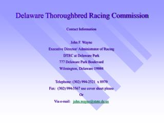 Delaware Thoroughbred Racing Commission