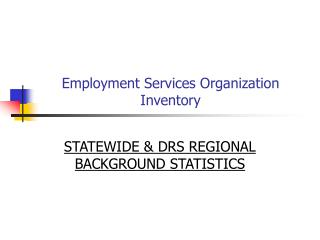 Employment Services Organization Inventory