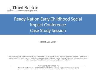 Ready Nation Early Childhood Social Impact Conference Case Study Session