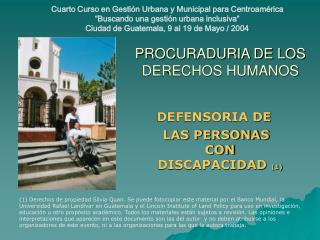 PROCURADURIA DE LOS DERECHOS HUMANOS