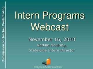Intern Programs Webcast