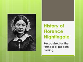 History of Florence Nightingale