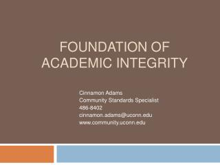 Foundation of Academic Integrity