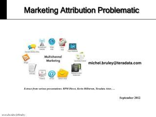 Marketing Attribution Problematic