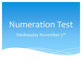 Numeration Test