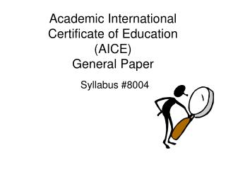 Academic International Certificate of Education  (AICE) General Paper