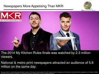 Newspapers More Appetising Than MKR