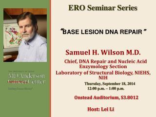 """ BASE LESION DNA REPAIR """