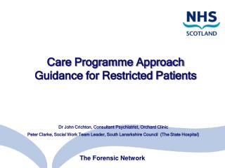 Care Programme Approach Guidance for Restricted Patients