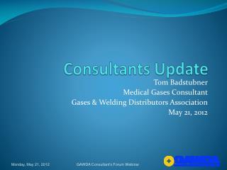 Consultants Update