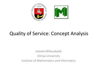 Quality of Service: Concept Analysis