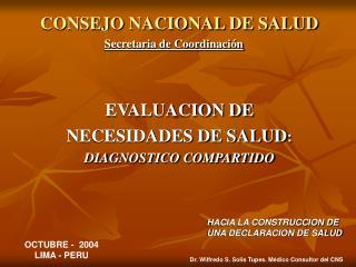 CONSEJO NACIONAL DE SALUD