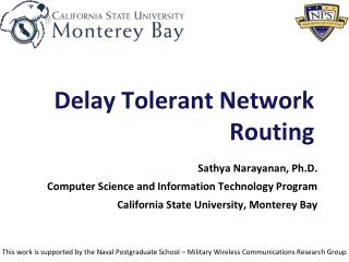 Delay Tolerant Network Routing