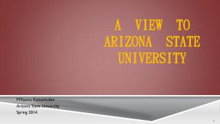 A  View  to Arizona  State   University