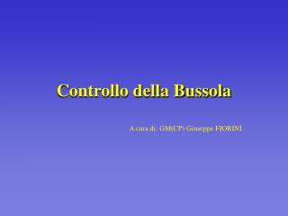 Controllo della Bussola