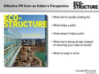 Effective PR from an Editor's Perspective