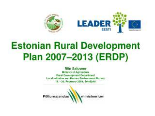 Estonian RDP 2007-2013