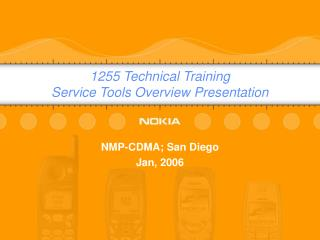 1255 Technical Training Service Tools Overview Presentation