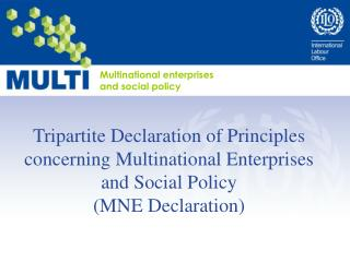 Multinational enterprises and social policy