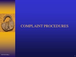 COMPLAINT PROCEDURES
