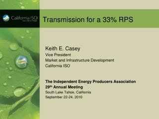 Transmission for a 33% RPS