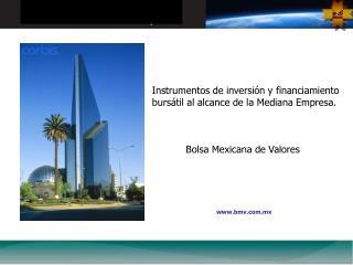 Instrumentos de inversi�n y financiamiento burs�til al alcance de la Mediana Empresa.