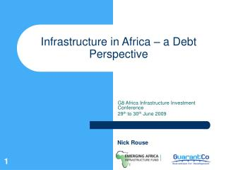 Infrastructure in Africa � a Debt Perspective
