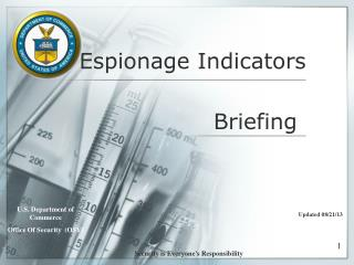 Espionage Indicators