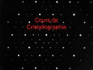 Cours de Cristallographie