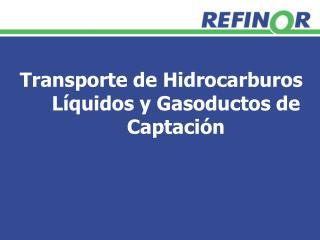 Transporte de Hidrocarburos Líquidos y Gasoductos de Captación