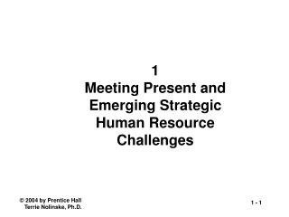 1 Meeting Present and Emerging Strategic Human Resource Challenges