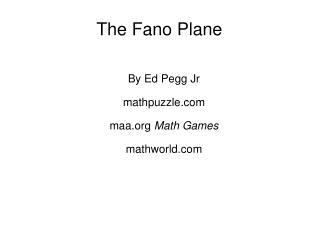 The Fano Plane