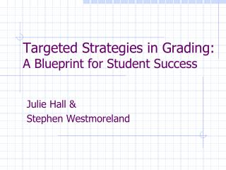 Targeted Strategies in Grading:  A Blueprint for Student Success