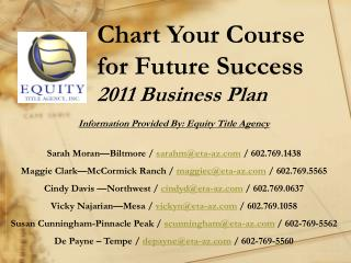 Chart Your Course for Future Success 2011 Business Plan