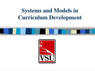 Systems and Models in Curriculum Development