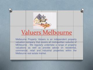 Valuation Melbourne