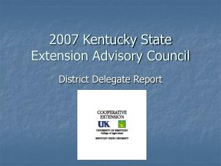 2007 Kentucky State Extension Advisory Council