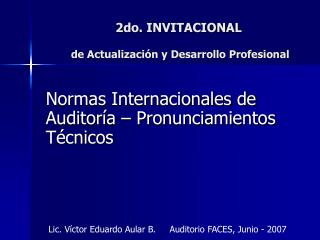 2do. INVITACIONAL  de Actualización y Desarrollo Profesional