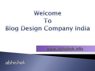 Wordpress Blog Design Company in India